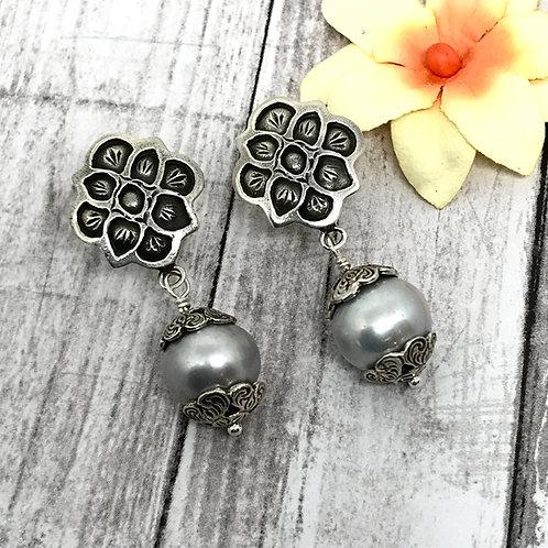 Mystic Desert Pearl Earrings