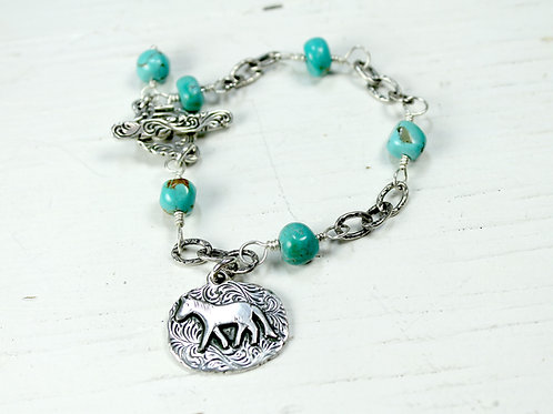 Charm Bracelet with Toggle