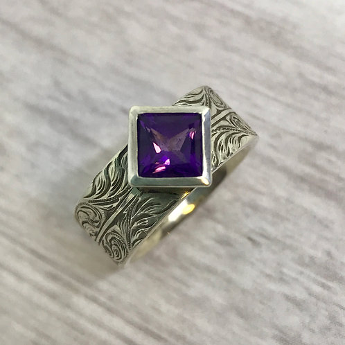 Amethyst Custom Ring