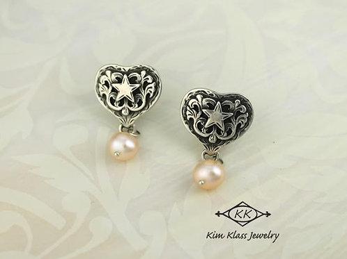 Debby Heart Earrings w/Drop