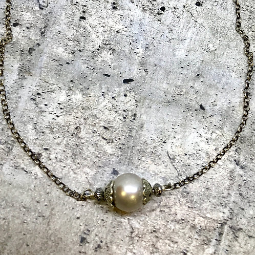 Desert Single Pearl Necklace