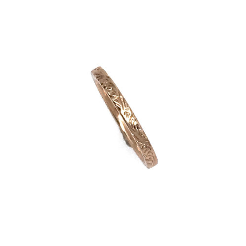 Rose Gold Engraved Band 2mm