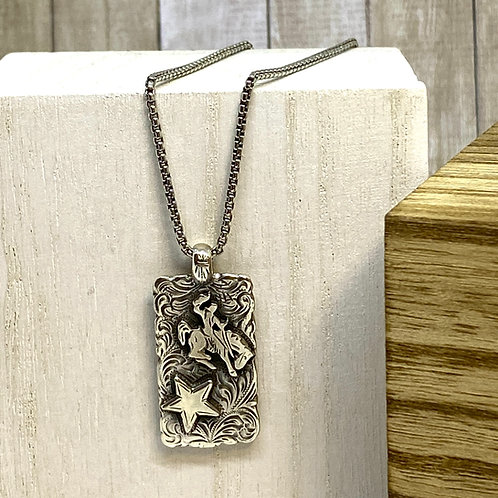Bronc Rider/Believe Necklace