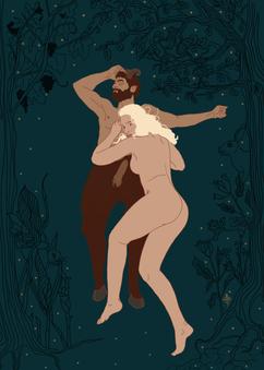 Satyre et nymphe après l'amour