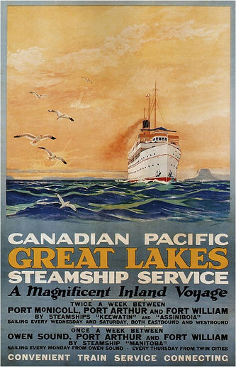 Vintage shipping poster