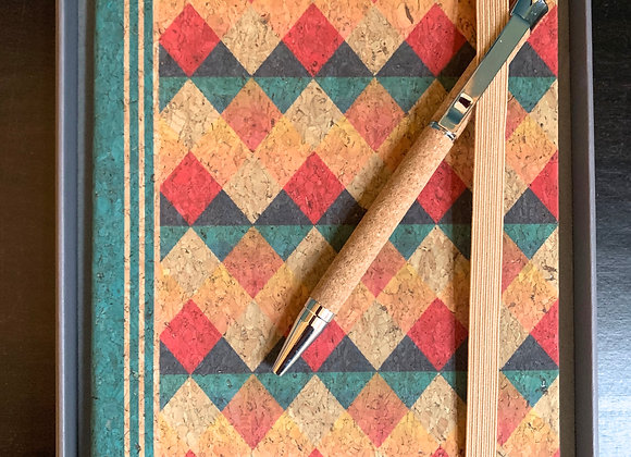 Cork Notebook and Pen Gift Set