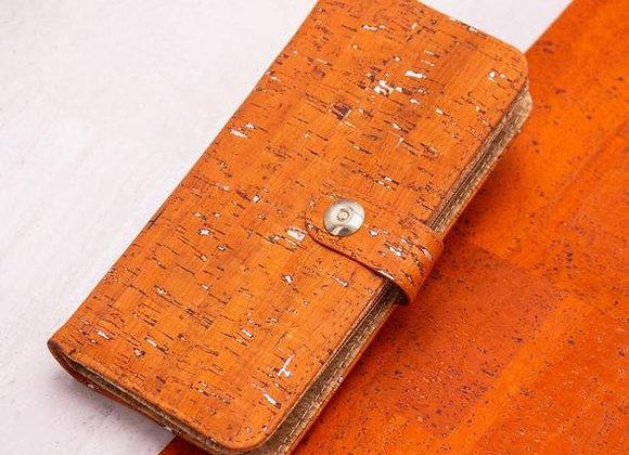Orange and Silver Cork Purse
