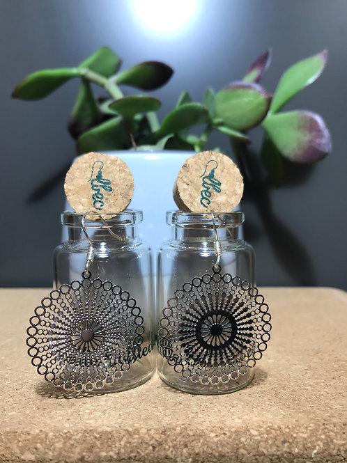 Large Mandala Pattern Earrings