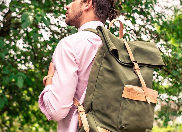 Canvas and Cork Backpack Earth