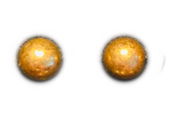 Small Gold Metal Ball  Studs
