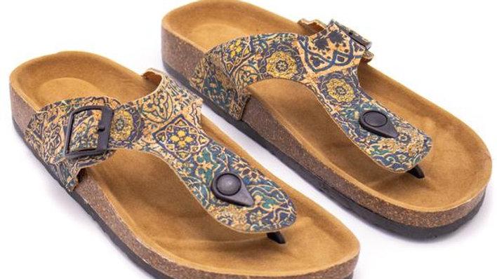 Cork Patterned Sandal