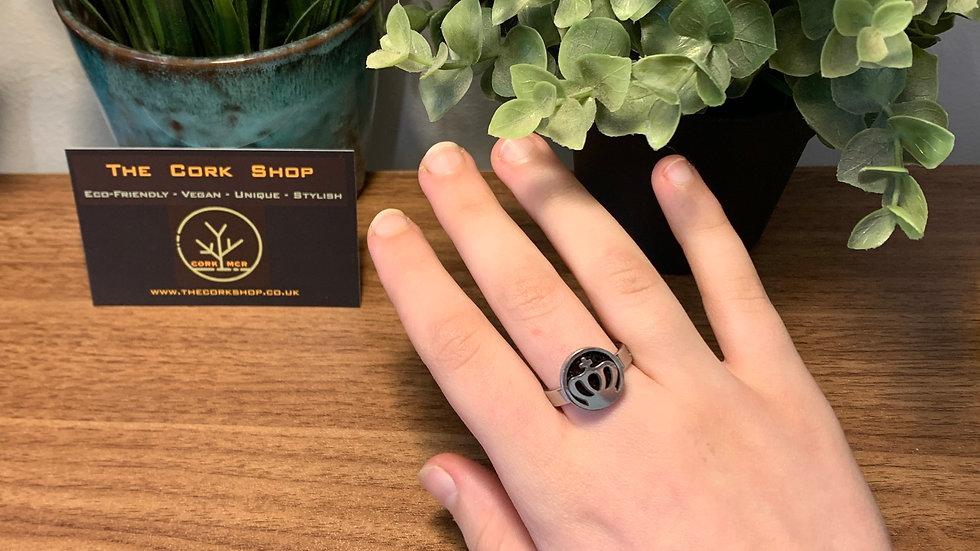 Stainless Steel Crown Pattern Ring