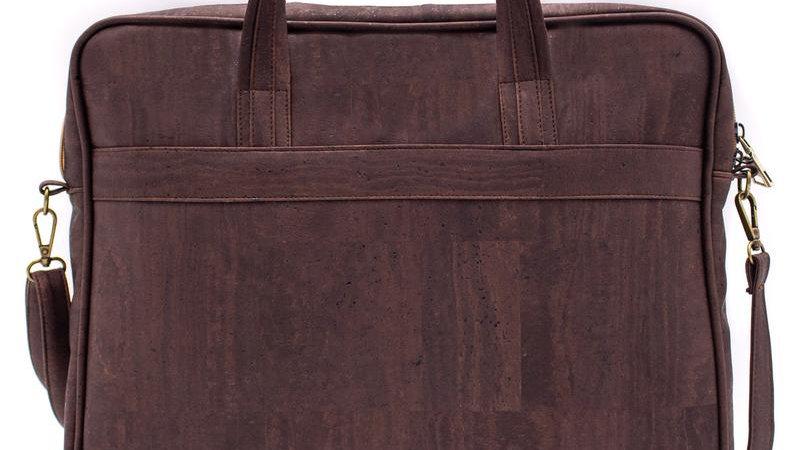 Natural Cork Brown Laptop Brief Case Bag