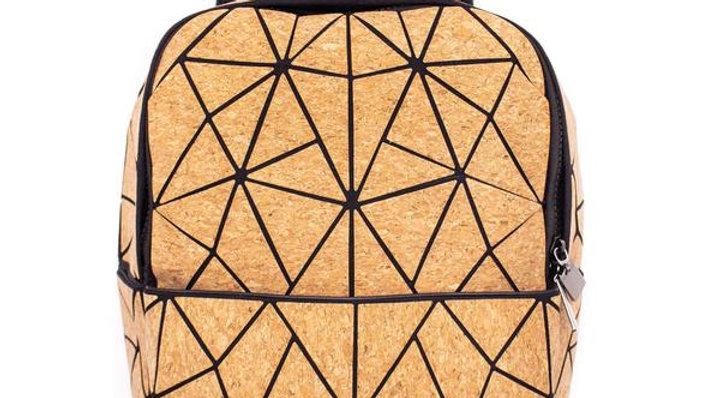 Natural Cork Geometric Small Rucksack