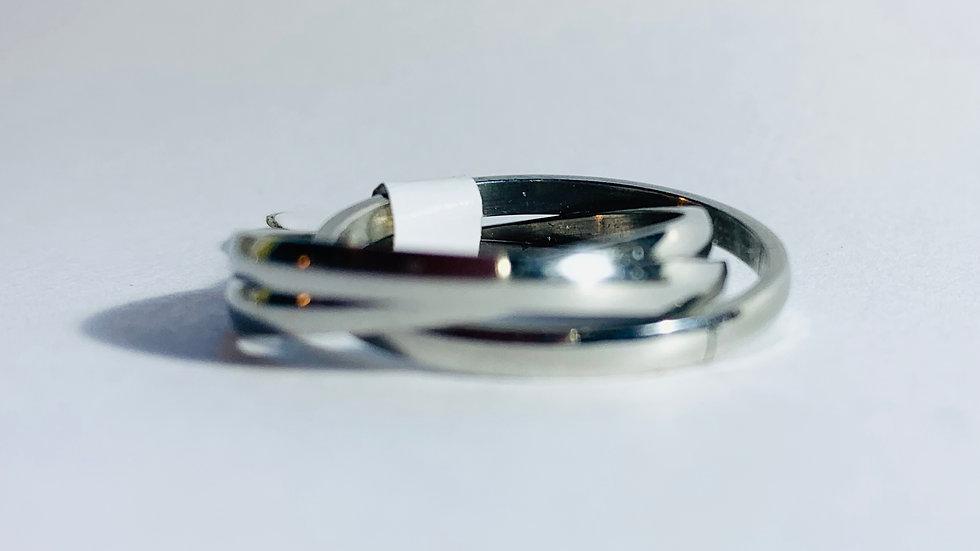 Stainless Steel Interlocking Triple Band Ring