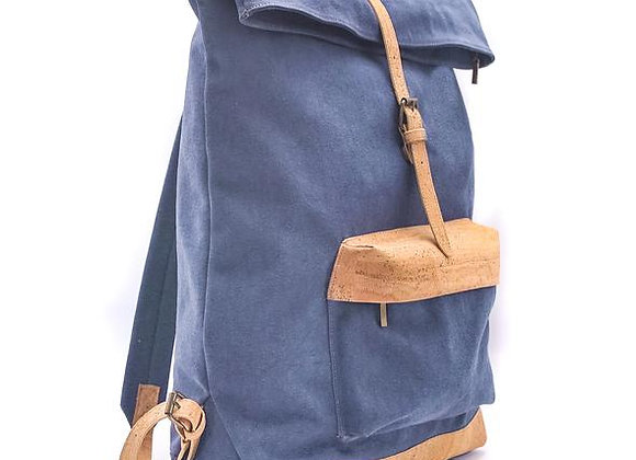 Canvas and Cork Backpack Denim
