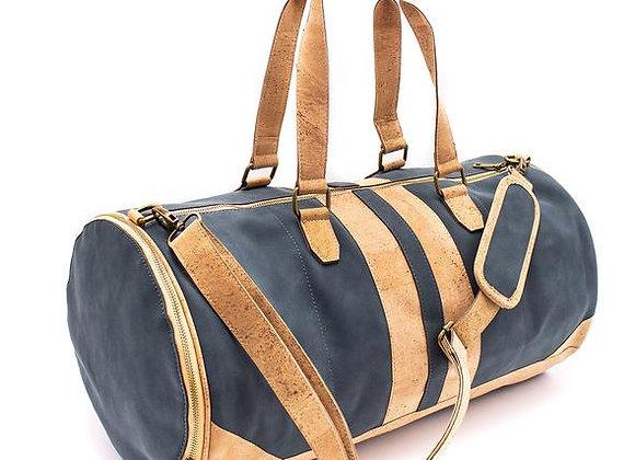 Vegan Leather and Cork Round Travel Bag