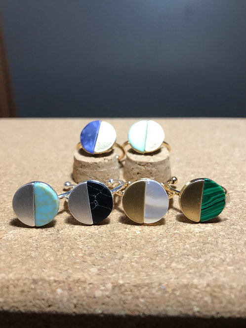 Stone and Metal Rings