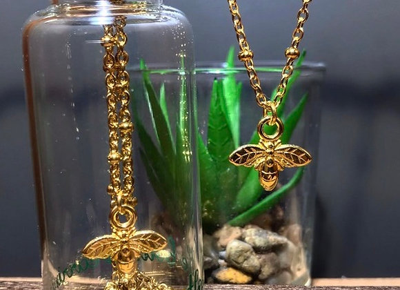 Gold Necklace with charm