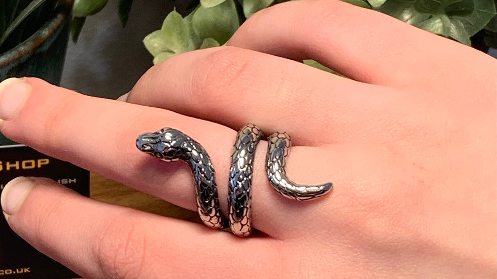 Stainless Steel Adjustable Snake Ring