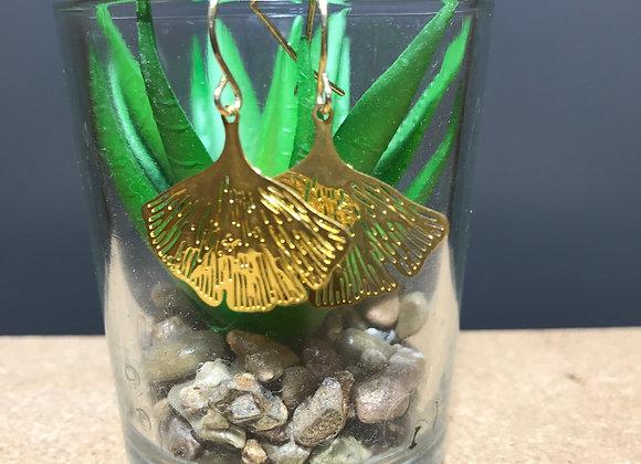 Ginko Leaf Earrings