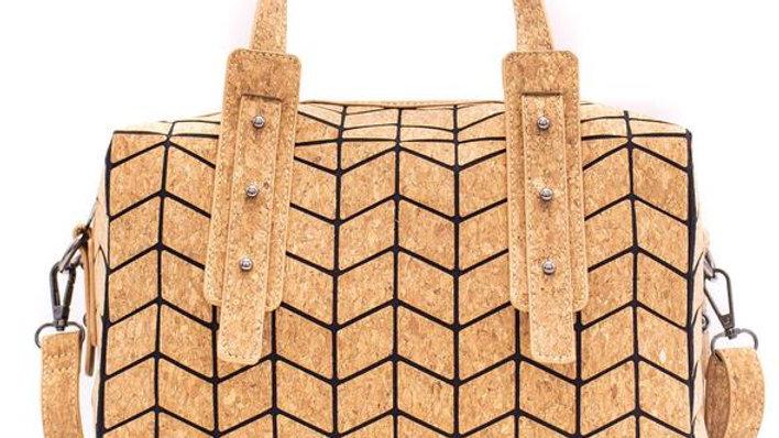Natural Cork Geometric Handbag/Crossbody Bag