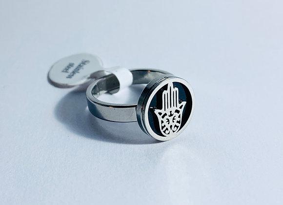 Stainless Steel Hamsa Hand Ring