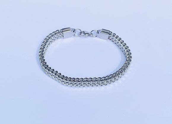 Stainless Steel Double Herringbone Bracelet
