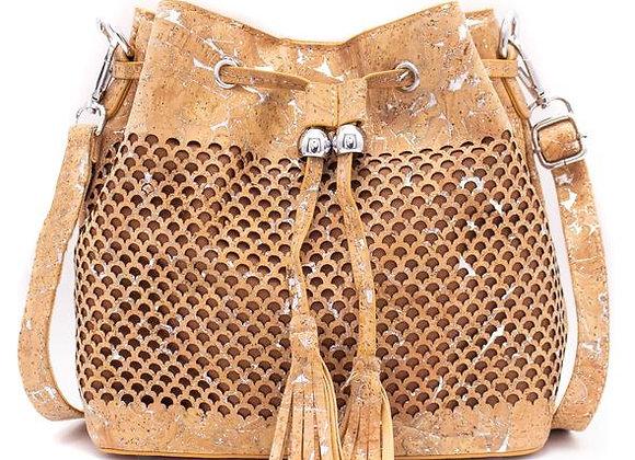 Natural Cork Bucket Bag