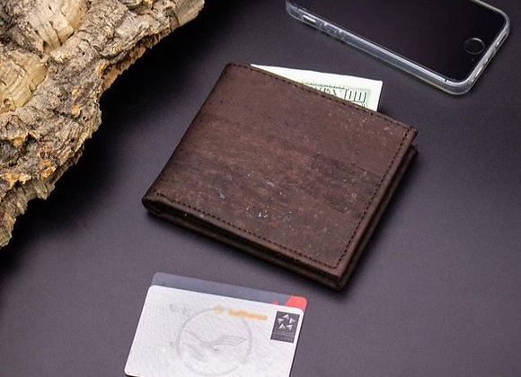 Cork Mens Wallet in Brown ST200