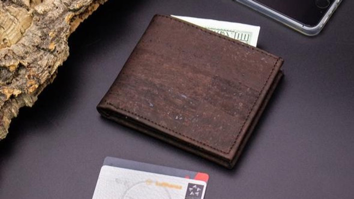 Cork Mens Wallet in Brown ST200