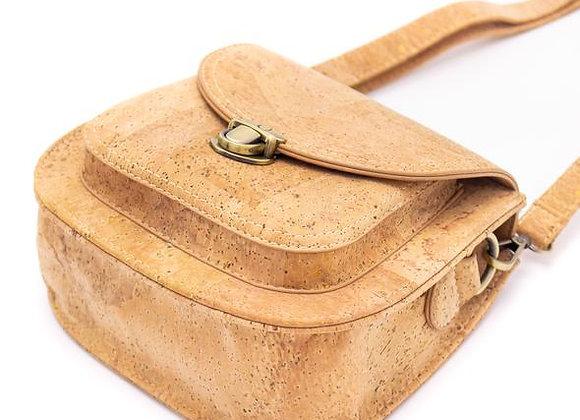 Natural Cork Saddle Bag