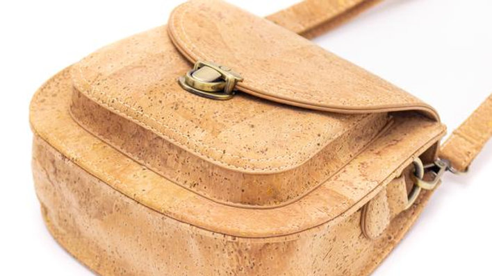 Natural Cork Saddle Bag
