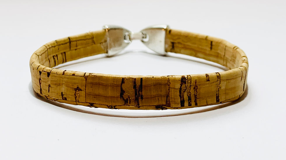 Natural Cork Bracelet with Strong Lock Clasp