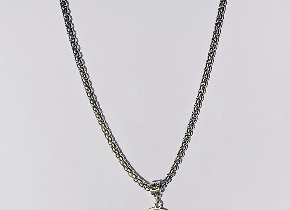 Stainless Steel Necklace with St. Christopher Pendant