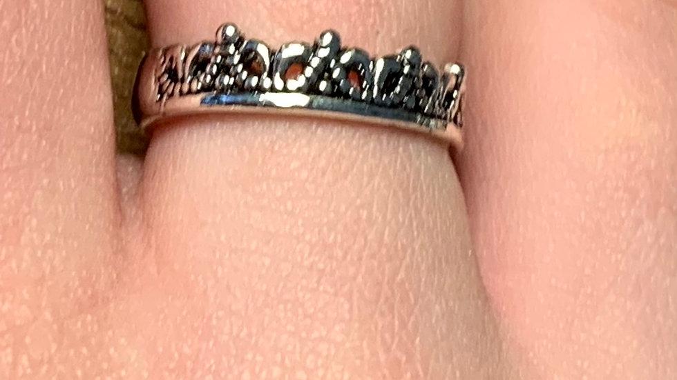 Stainless Steel Adjustable Tiara Ring