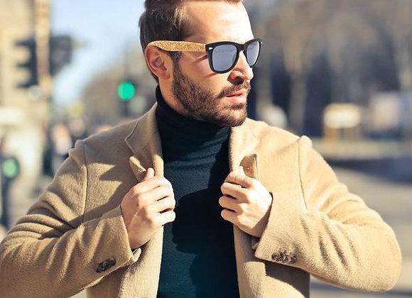 Cork sunglasses cork wooden UV protection Eyewear Including Box