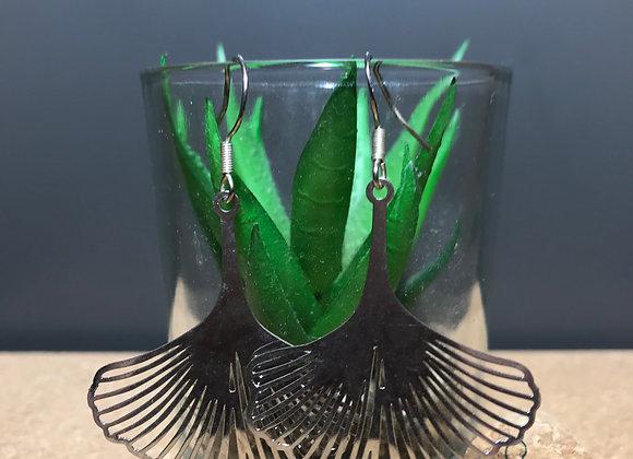 Large Ginko Leaf Earrings