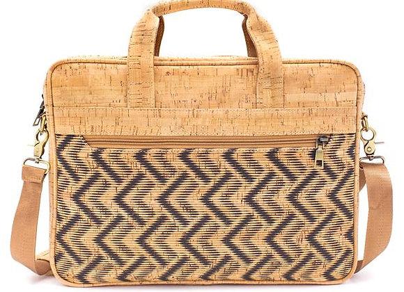 Natural Cork Patterned Laptop Bag