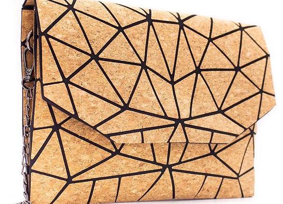 NaturalCork Geometric Clutch/CrossbodyBag