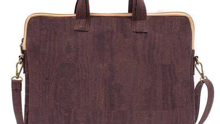 Natural Cork Brown Laptop Bag