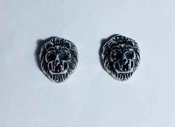Stainless Steel Lion Head Earring