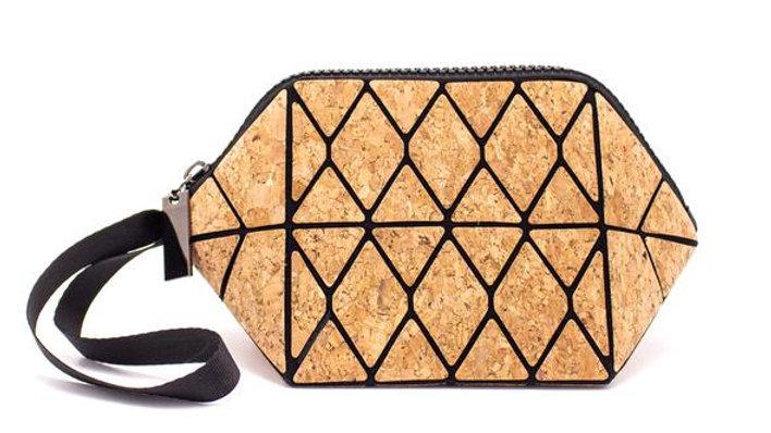 Natural Cork Trendy Geometric Purse/Make-up Bag