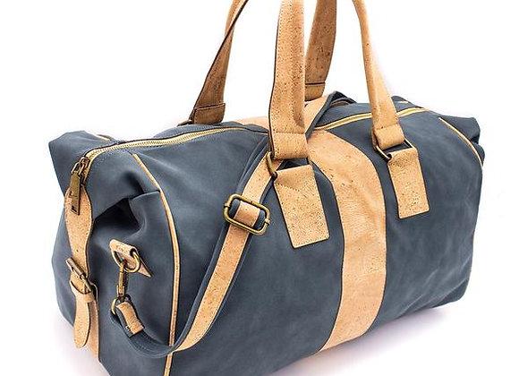 Vegan Leather and Cork Chunky Travel Bag