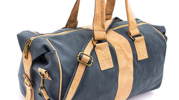 Vegan Leather and Cork Chunky Travel Bag