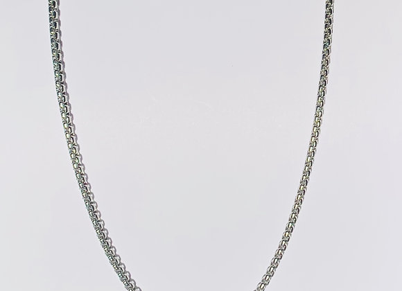 Stainless Steel Belcher Chain Necklace with Lobster Clasp