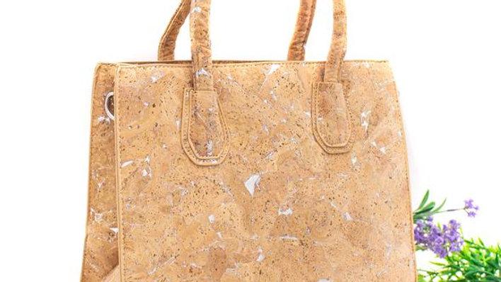 Natural Cork Kelly Style Bag