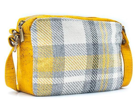 Fresh Checkered Cork and Cotton Chunky Bag