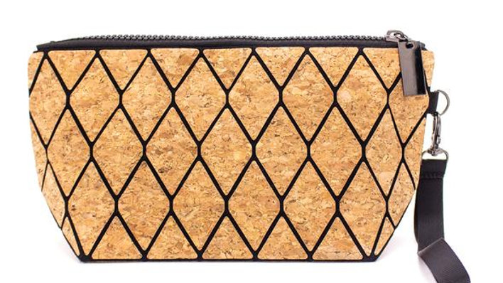 Natural Cork Trendy Geometric Purse