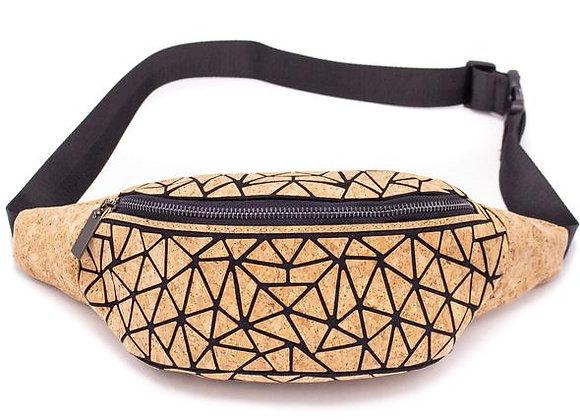Natural Cork Geometric Waist Bag